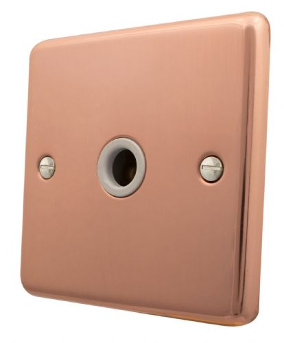 G&H CBC79W Standard Plate Bright Copper 1 Gang Flex Outlet Plate